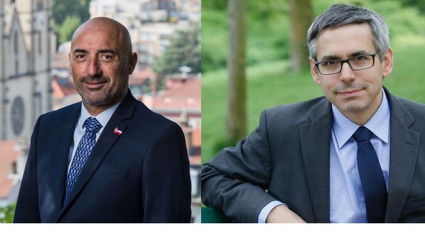 Jean-Claude Pardal et Vincent Chriqui, ex-colistiers aujourd'hui adversaires