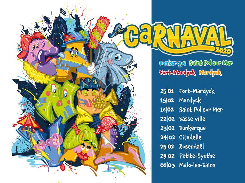 Affiche Carnaval de Dunkerque 2020