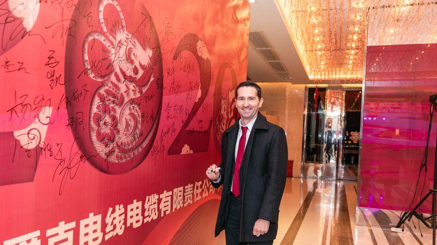 Frédéric Briand est le directeur du site industriel Acome de Wuhan en Chine