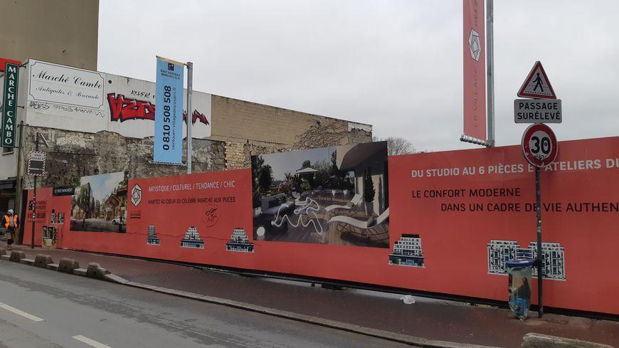 """Le chantier du futur """"Village des Rosiers"""" à Saint-Ouen (Seine-Saint-Denis)"""