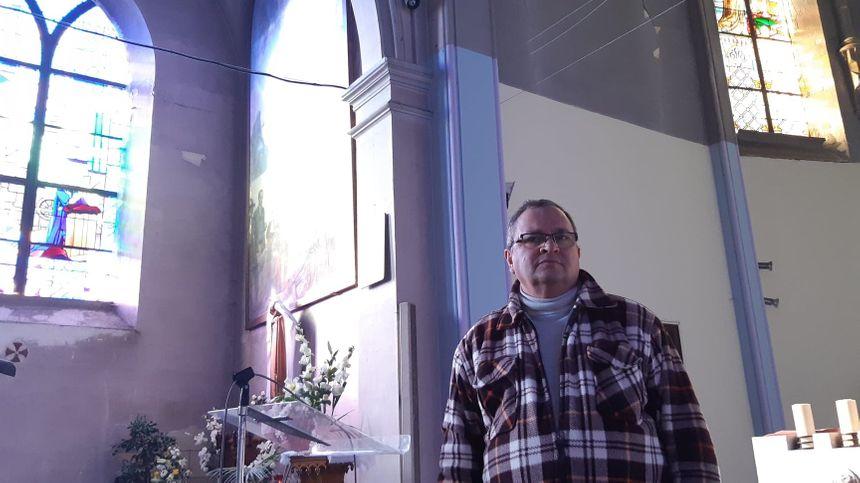 Didier Becart, co responsable de l'animation du Sacré Coeur compte bien s'occuper de son église jusqu'à la vente