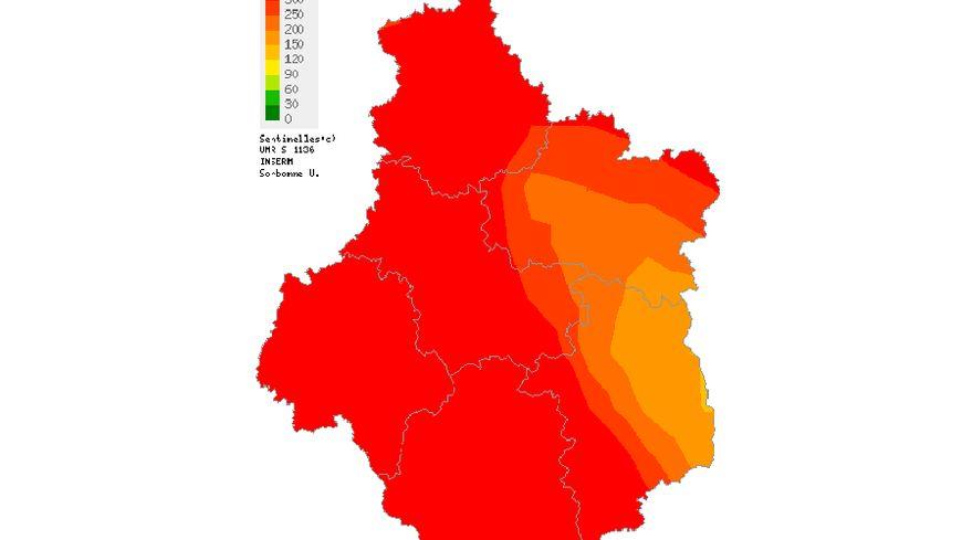 La dernière carte mise à jour du réseau Sentinelles concernant les diarrhées aiguës