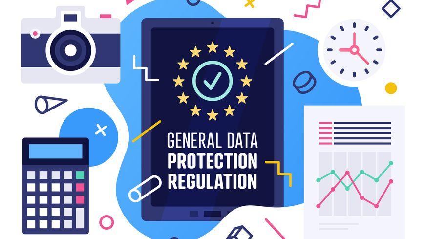 Règlement général sur la protection des données Vector Illustration Design - Vectoriels