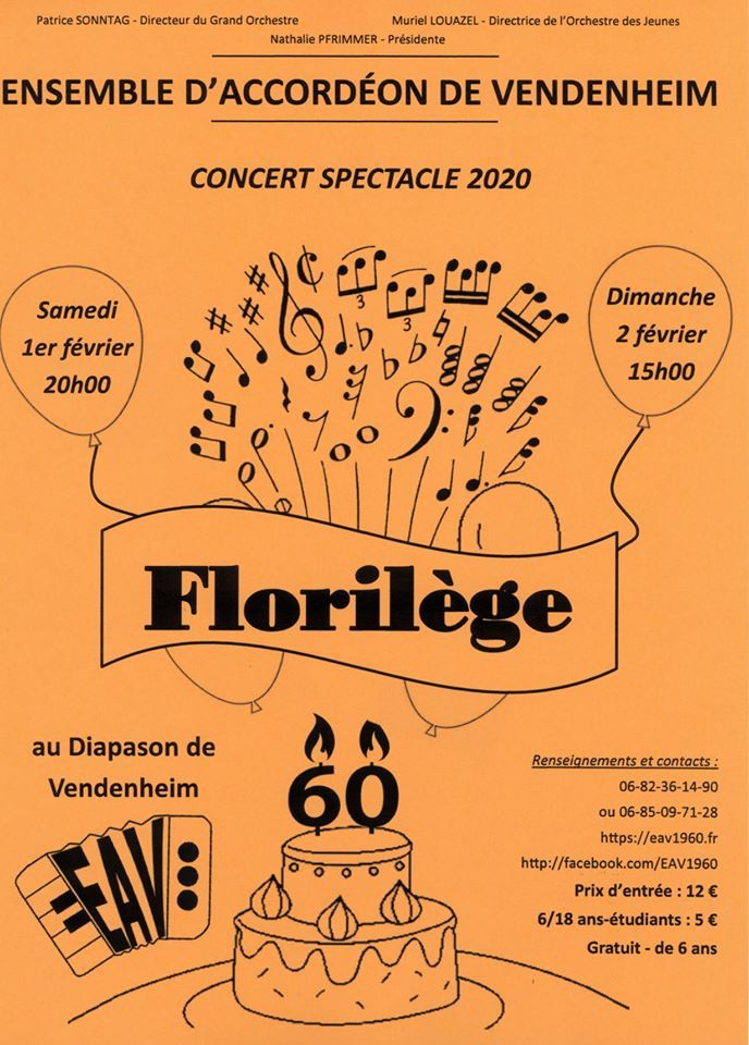 Affiche Concert Accordéon Vendenheim 2020