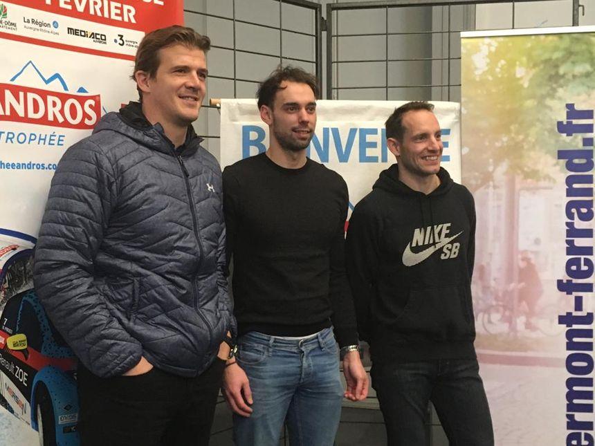 Aurélien Rougerie, Nathanaël Berthon et Renaud Lavillenie