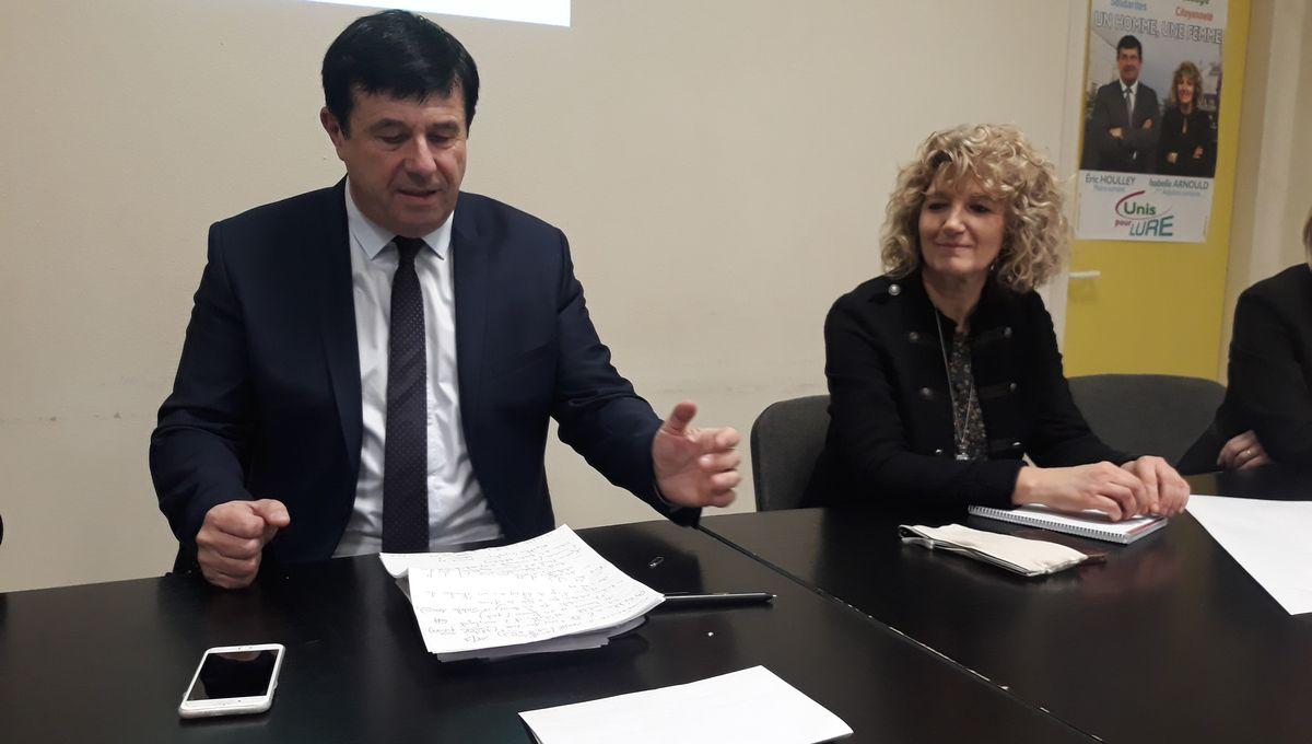 Eric Houlley et Isabelle Arnould présentent leur liste pour les municipales à Lure