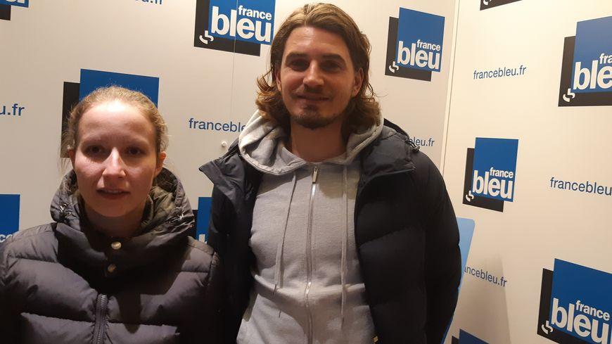"""Marinette Boch (coach des footballeuses de l'US St-Vit) et Simon Nardi (entraîneur des filles du FC Vesoul) étaient les invités de """"100% club"""" sur France Bleu Besançon, le 6 janvier 2020"""