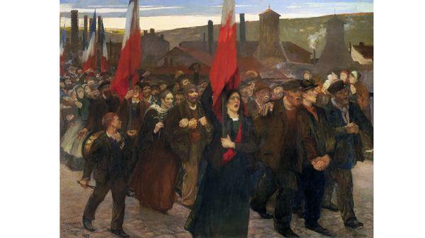 ules Adler : La Grève au Creusot, 1899 Huile sur toile Pau, musée des Beaux-Arts