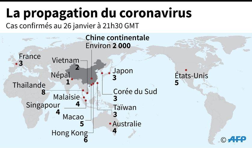 Coronavirus en Chine : le bilan passe à 80 morts
