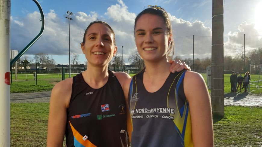 Sylvie Le Chat de Laval Agglo Athlé 53 et Lise Crosnier de l'EANM remportent les championnats départementaux de Cross