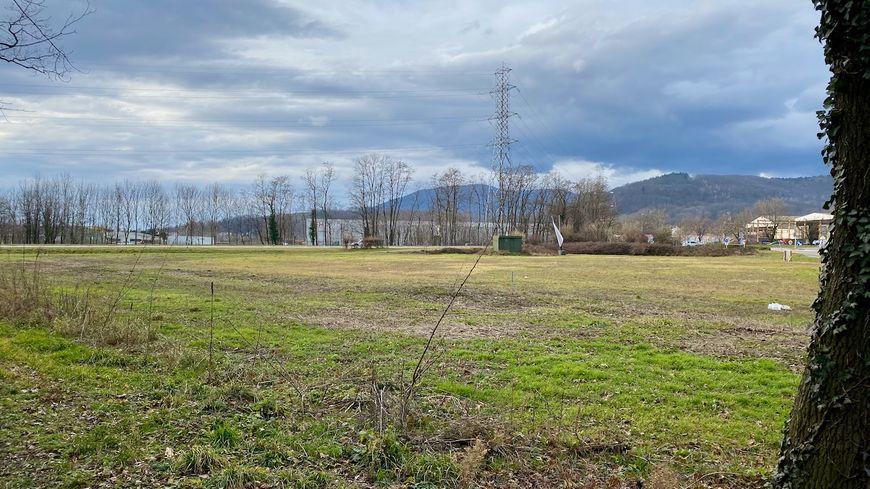 Issenheim, les Vosges depuis le sentier de découverte