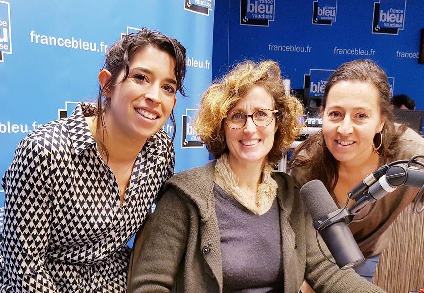 Chloé Sarra, Marion Vogel et Cindy Duterne