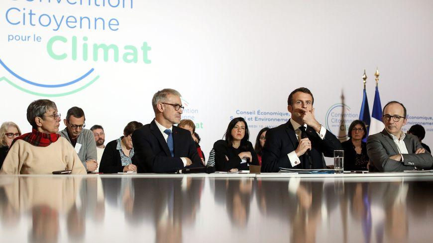 Emmanuel Macron a participé vendredi 10 janvier à la convention citoyenne pour le climat