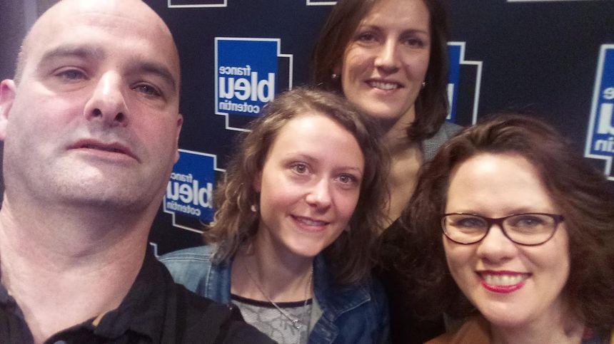 de Gauche à droite Camylle Avoine, Morgane Mahut et Myriam Corbet