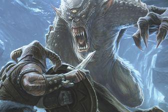 Un troll immense et féroce, issu de la série de jeu vidéo The Elders Scrolls, apparaissant dans Skyrim (2011)