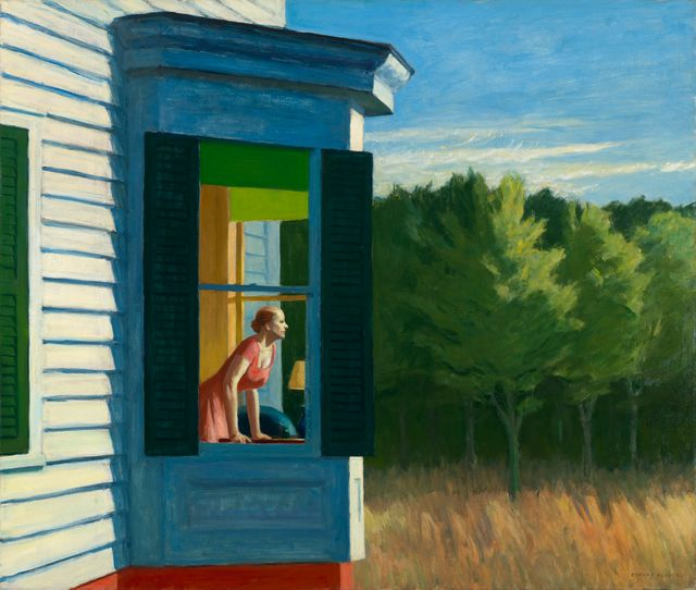 Cape Cod morning, Huile sur toile 86.7 x 102.3 cm Smithsonian American Art Museum, Gift of the Sara Roby Foundation © Heirs of Josephine Hopper / 2019, Photo: Smithsonian American Art Museum, Gene Young