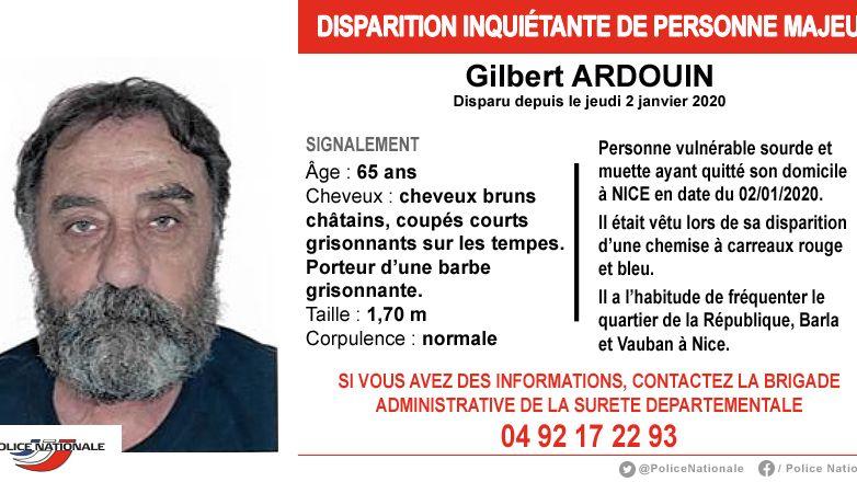 Appel à témoins après la disparition inquiétante d'un homme de 65 ans sourd et muet à Nice