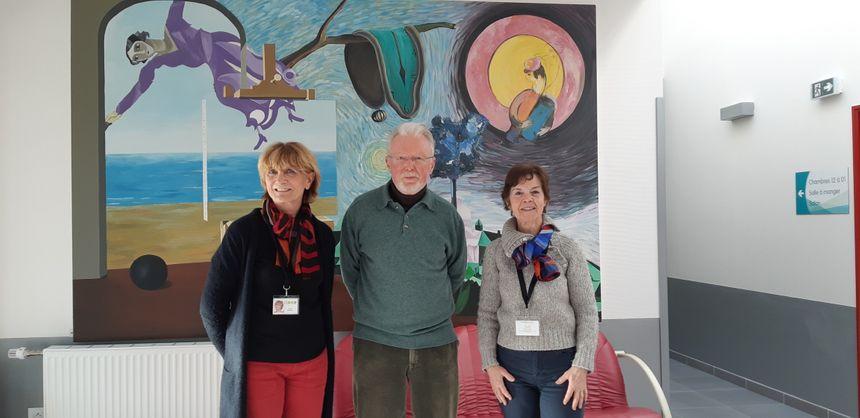 Les bénévoles de la Mome : Annie Vernay, le président Jean-Pierre Gushing, et Sylvette Cosson