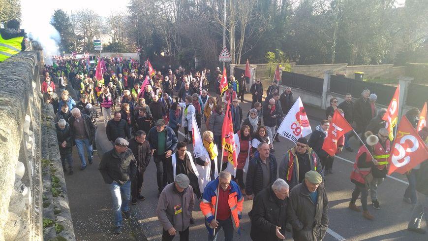 Manifestation contre la réforme des retraites à Auxerre