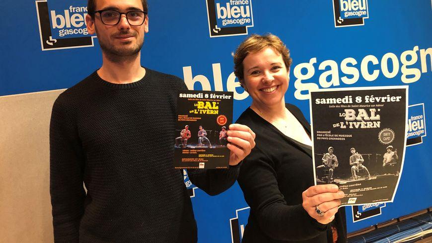 Martin Lassouque et Sylvie Destabeau : Le 2ème bal de l'hiver à Saint-Maurice sur Adour