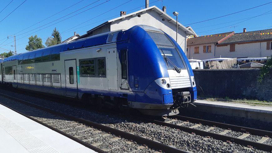Un TER de la région Auvergne-Rhône-Alpes (illustration).