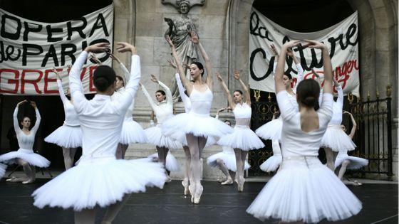 Mobilisation des danseurs de l'Opéra de Paris le 24 décembre 2019