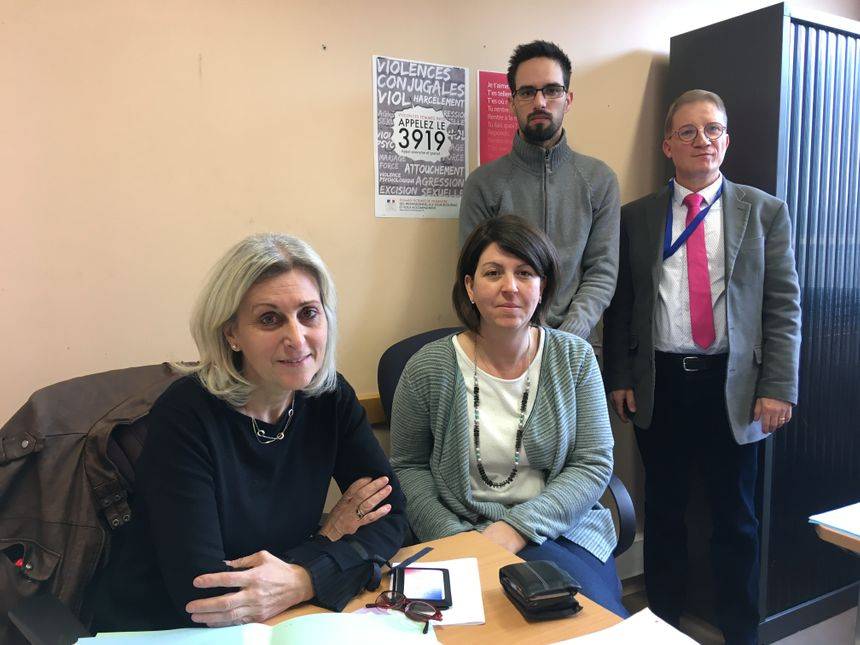 Une partie de l'équipe du commissariat de Metz chargée de lutter contre les violences conjugales