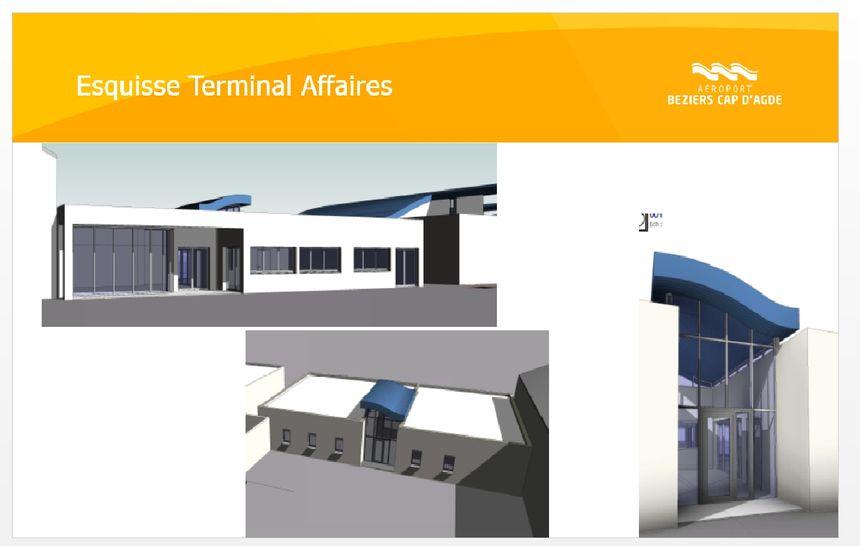 Projet du terminal  vols d'affaires envisagé d'ici l'été 2021