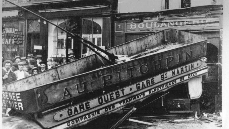 L'accident de la motrice n°16 2 septembre 1906 place Saint Sauveur Caen