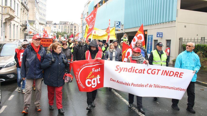 Le cortège castelroussin contre la réforme des retraites (29 janvier 2020)