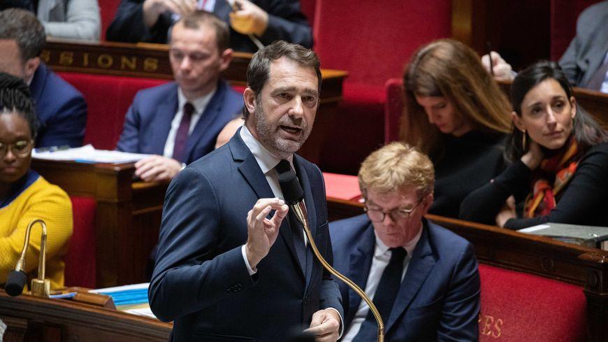 Christophe Castaner, lors de la séance de questions d'actualité au gouvernement, mardi 21 janvier 2020