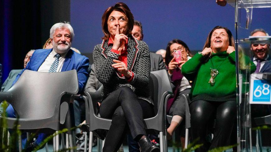 Martine Vassal lors de la cérémonie des voeux à la maire des 6/8e arrondissements de Marseille