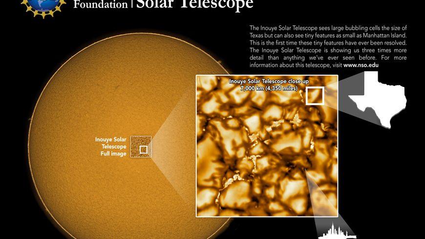 Les images du télescope hawaïen le NSF's Inouye Solar Telescope.