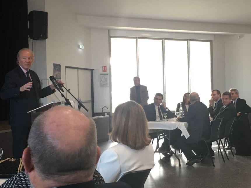 Brice Hortefeux a rendu hommage à Jean Albisetti, maire de Gerzat, qui ne se représente pas en mars prochain
