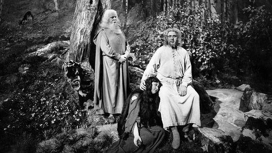Production de Parsifal de Richard Wagner à l'Opéra de Berlin (c. 1925), avec Walther Kirchhoff dans le rôle de Parsifal