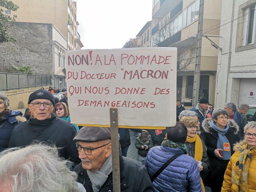 Manifestation contre la réforme des retraites (Béziers) / vendredi 24 janvier 2020
