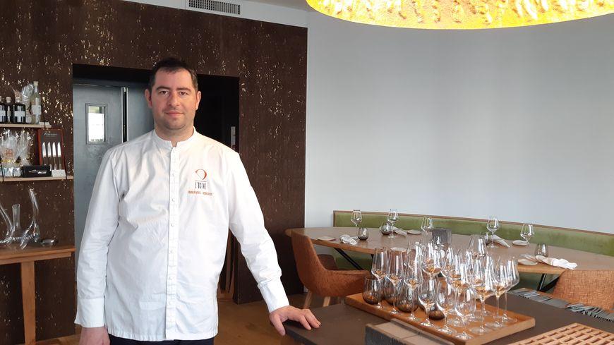 Emmanuel Hebrard chef étoilé de L'Ostal à Clermont-Ferrand