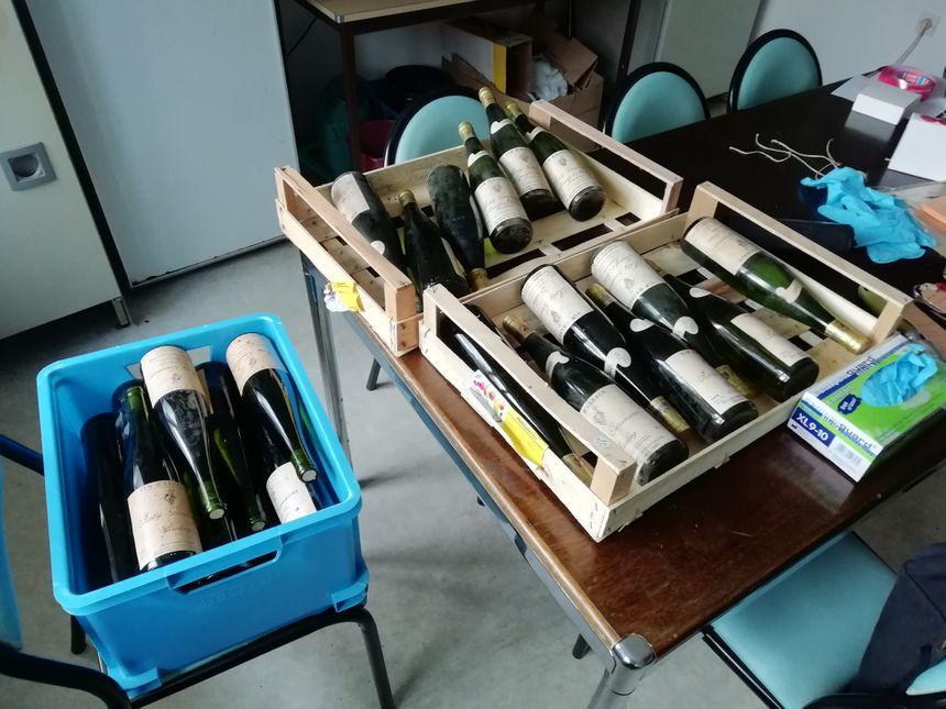 Les bouteilles volées retrouvées
