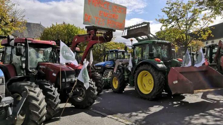 """200 agriculteurs ont manifesté à Guéret en octobre 2019 notamment contre l'""""agribashing"""""""