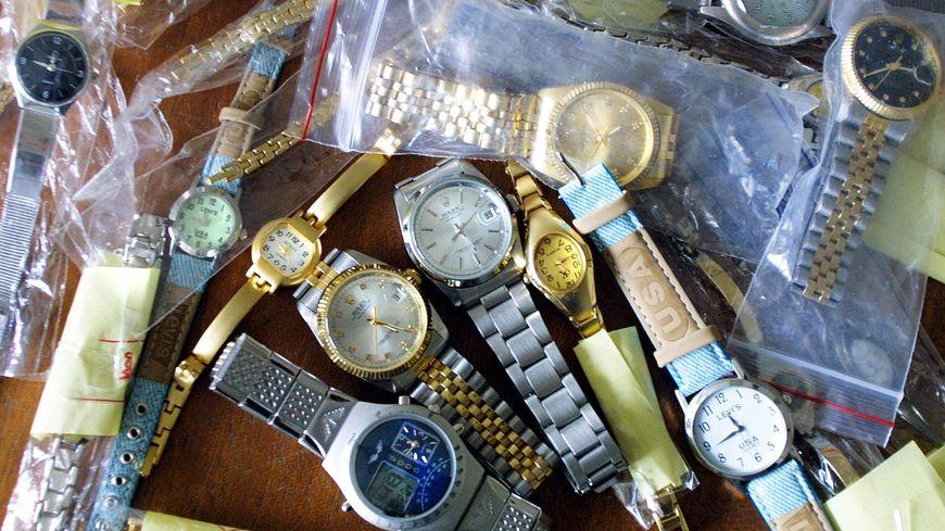 Saisie de montres par les douanes. Photo d'illustration