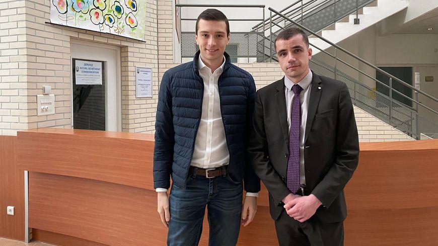 Jordan Bardella a rendu visite au candidat RN à la mairie de Suippes, Baptiste Philippot