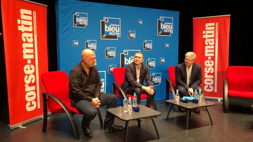 Don Mathieu Santini, Jean Christophe Angelini et Georges Mela, candidats à l'election municipale de Porto-Vecchio