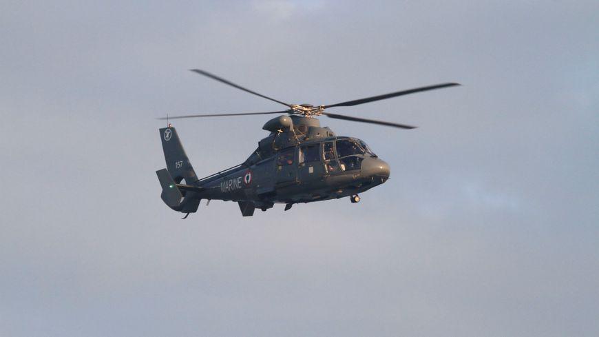 C'est l'hélicoptère dauphin de la marine nationale qui a localisé le corps inanimé de l'homme disparu.