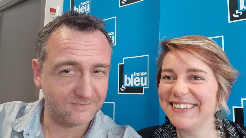 Philippe Viallon et Amandine Rolet, comportementaliste canin et félin de France Bleu Pays d'Auvergne
