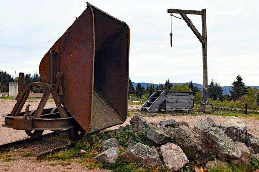 La potence de l'ancien camp de concentration de Natzweiller-Struthof.