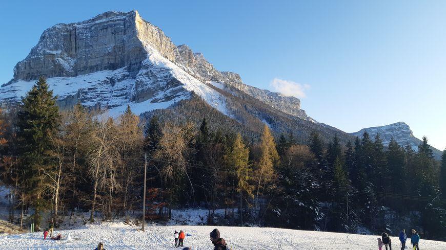 Le Mont Granier en ce début janvier