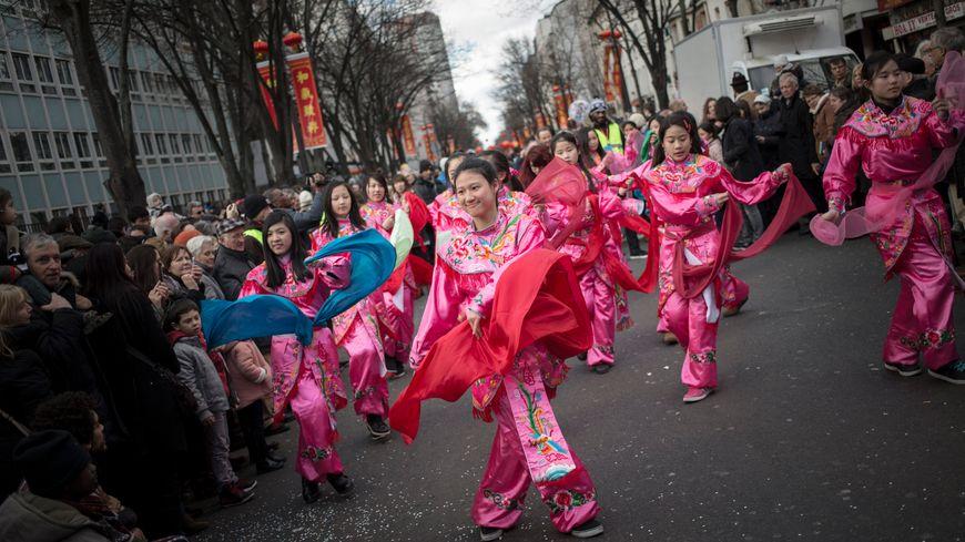 Le grand défilé du Nouvel chinois dans le XIIIe arrondissement de Paris.