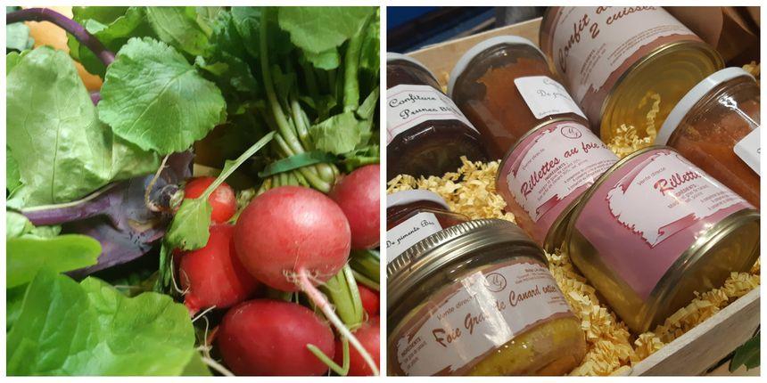 Légumes de saison, conserves de canard et confitures de la Ferme Coumet à Préchacq-les-Bains