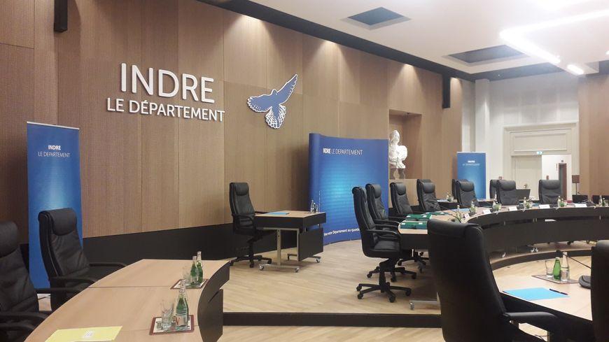 La salle des délibérations du Conseil départemental de l'Indre