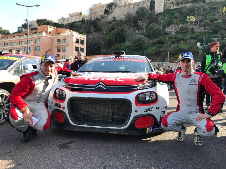 Le Niçois Eric Camilli (à droite) remporte la catégorie WRC 3 avec son copilote Buresi.